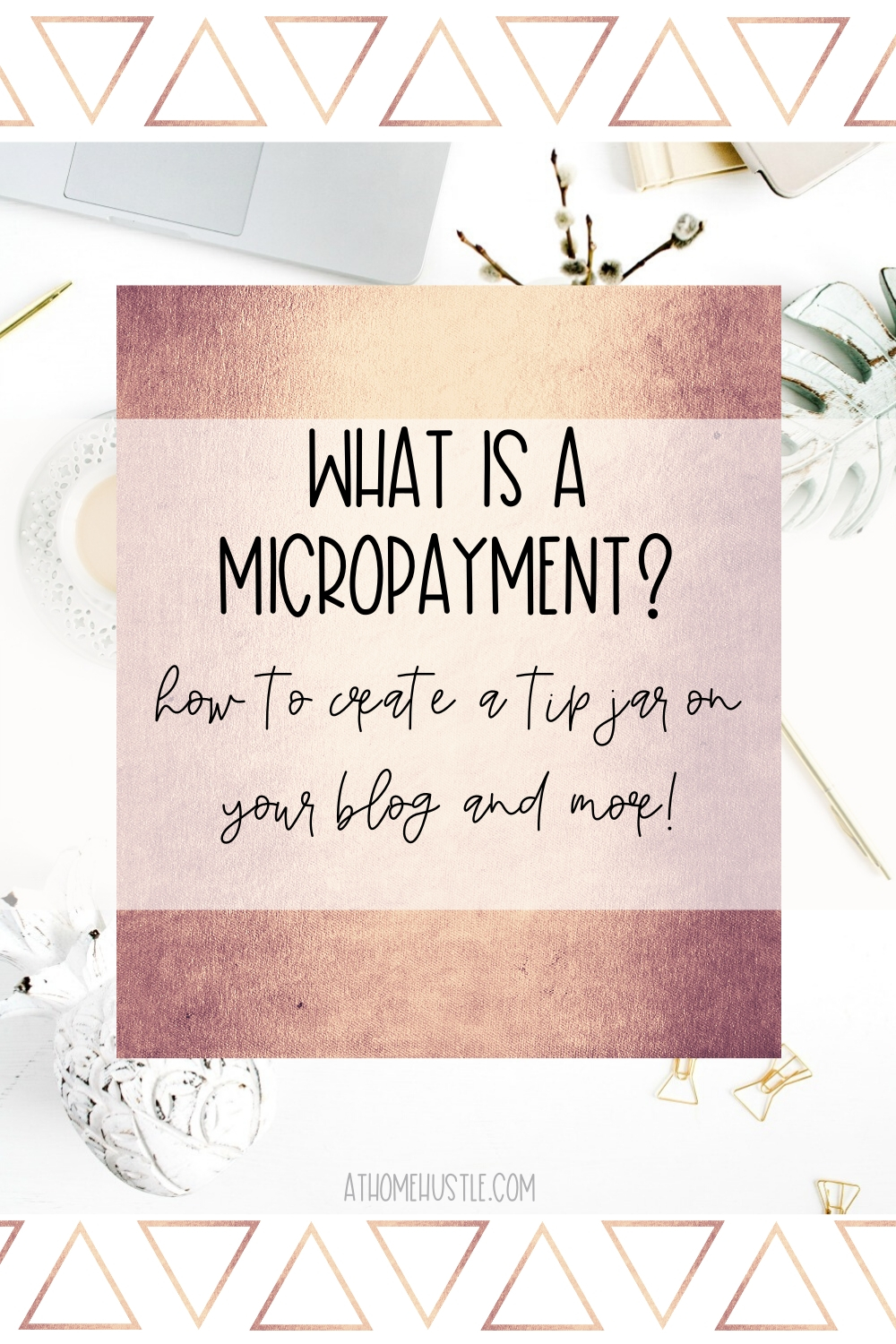 White desk with text that says what is a micropayment